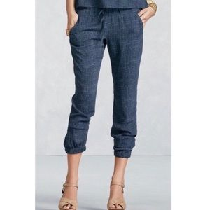 Cabi Texture Slouch Jogger Pants #414 Cropped S
